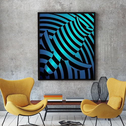Quadro, Poster, Gravura,Op Art,Arte Ótica,3d,ilusão ótica, Minimalista, Canvas, colorido, abstrato, decorativo, fototela