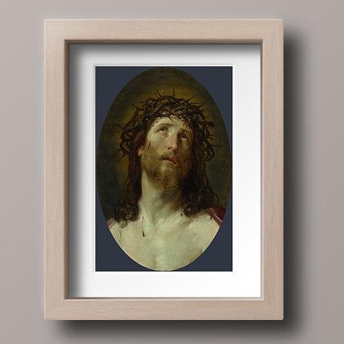 Guido Reni, Cristo Coroado de Espinhos, quadro, poster, replica, canvas, gravura, reprodução, tela,releitura, fototela