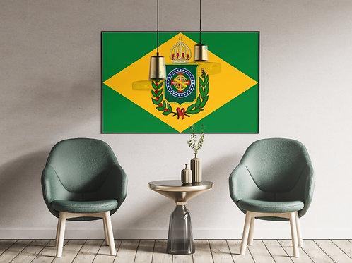 Bandeira Imperial Brasil,1822,1889,quadro,poster,replica,gravura,canvas,reprodução,tela,pintura,parede,decoração