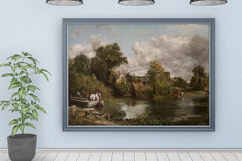 Constable,O Cavalo Branco,The White Horse,quadro,reprodução,poster,canvas,gravura,replica,fototela,tela,pintura,releitura