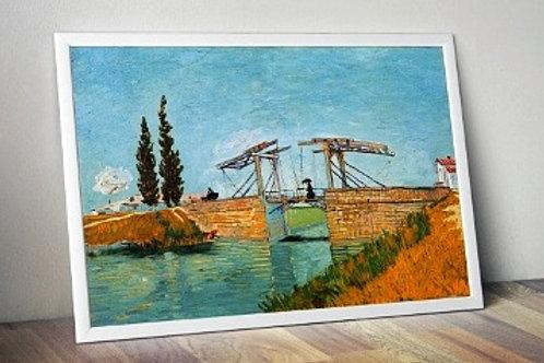 Vincent, Van gogh, Ponte Langlois em Arles, The Langlois Bridge at Arles, quadro, poster, gravura, canvas, replica,reprodução