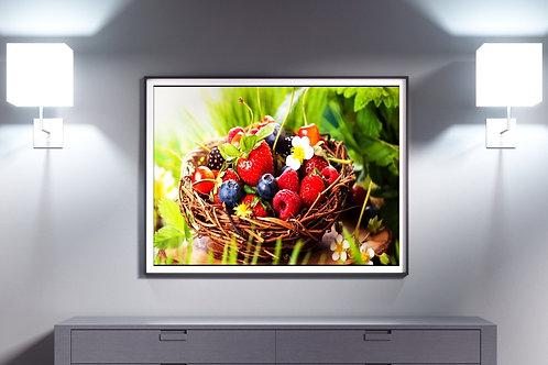 fotografia,cozinha,Alimento,Cesta,Frutas Vermelhas,Colorido,sala,quadro,poster,replica,gravura,canvas,reprodução,foto,tela