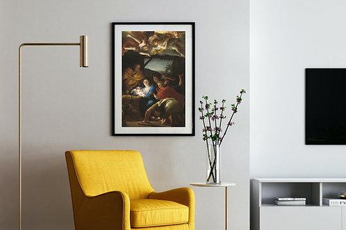 Anton Raphael Mengs,Adoração dos Pastores,quadro,poster,gravura,replica,reprodução,canvas,fototela,tela,pintura,releitura