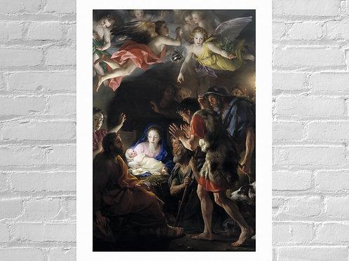 Anton Raphael Mengs,Adoração dos Pastores,Jesus Cristo,Maria,Ressureição,quadro,poster,gravura,replica,canvas,pintura,tela