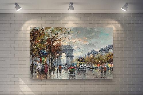 antoine blanchard, Arc de Triomphe,gravura paris, cidade, paris, quadro, poster, replica, gravura, reprodução, canvas, tela