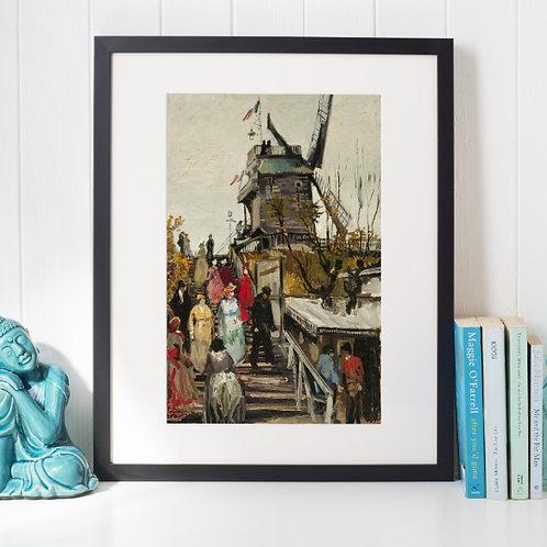 Van Gogh,Le Moulin de Le Blute-Fin,poster,gravura,reprodução,canvas,replica,fototela