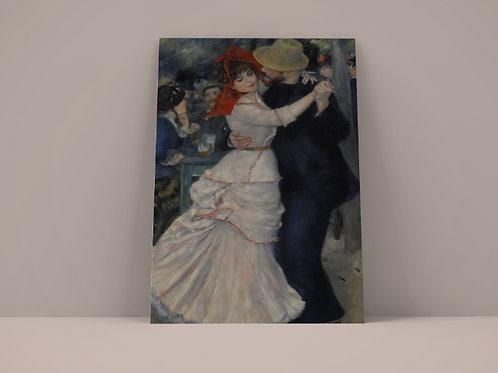 renoir,Dança em Bougival,dance at bougival,quadro, poster, replica, gravura, canvas, reprodução, tela,fototela,pintura