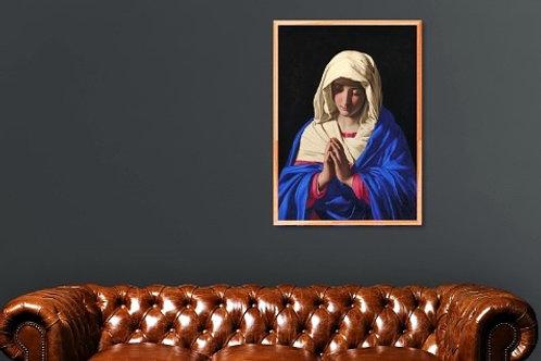 Sassoferrato, Virgem em oração, Virgem orando, The Virgin in Prayer, quadro, poster, gravura, reprodução, canvas,replica,tela