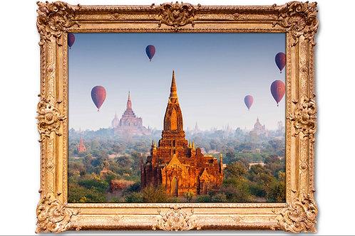 Templo Budista,quadros fotográficos,para,sala,quadros para parede,quadros decorativos ponto turístico,quadro,poster,fotografi