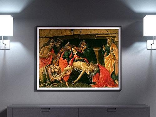 sandro, botticelli, Lamentação sobre o Cristo Morto, quadro, poster, replica, gravura,reprodução,canvas,fototela,tela,pintura