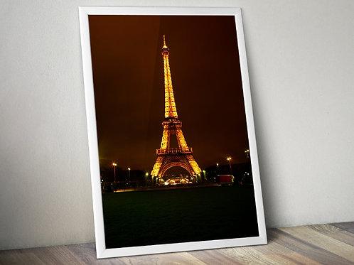 fotografia,Torre Eiffel,Eiffel Tower,Noite,poster,gravura,reprodução,réplica,canvas,tela,pintura,fine art