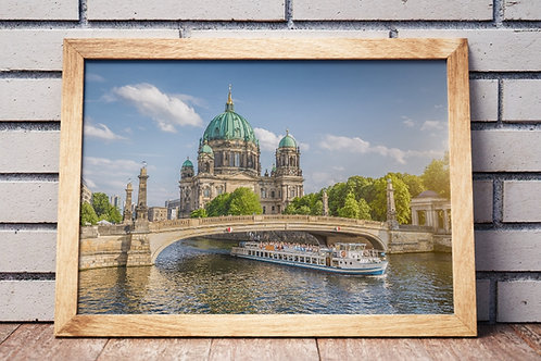 Catedral,Berlim,igreja,fotografia,cidade,quadro,canvas,poster,replica,gravura,reprodução,fototela,tel