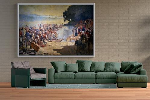 Almeida Júnior,Partida da Monção,Brasil,quadro,poster,replica,gravura,canvas,reprodução,tela,pintura,parede,decoração