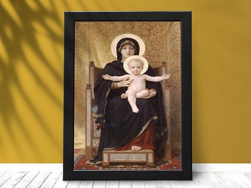 Bouguereau,Virgem com Criança,madonna e Criança,Menino Jesus,quadro,poster,gravura,canvas,tela,réplica,reprodução,pintura