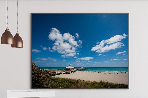 Doca,praia,Palm Beach,Mar,fotografia,paisagem,poster,gravura,reprodução,réplica,canvas,tela,pintura,fine art,fototela