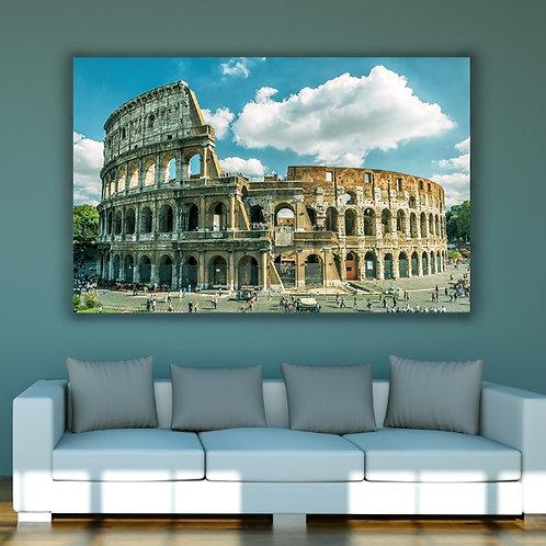 fotografia,Coliseu Roma,Itália,cidade,turismo,quadro,canvas,poster,replica,gravura,reprodução,fototela,tela,pintura