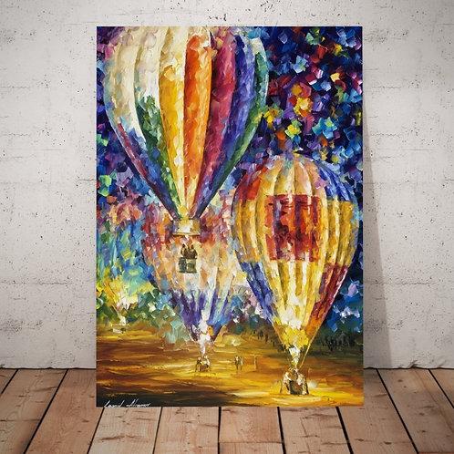Leonid Afremov, balões, quadro, poster, replica, gravura, canvas, reprodução, tela, releitura