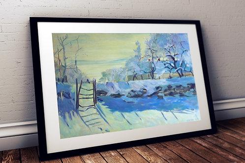 Monet, A Pega, The Magpie, quadro, poster, replica, canvas, reprodução, gravura
