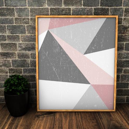 Quadro, Poster, Gravura,Escandinavo, Geométrico, Minimalista,  Canvas, Tela, branco, rosa, cinza, abstrato, decorativo