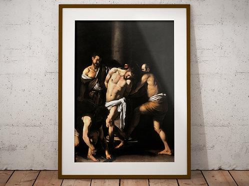 Caravaggio,Flagelação de Cristo,quadro,reprodução,poster,canvas,gravura,replica,fototela,tela,pintura,releitura