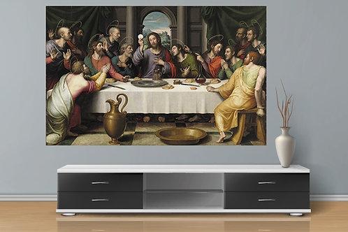 Juan de Juanes, santa ceia, última ceia, last supper, quadro, poster, gravura, canvas, fototela, tela, pintura, religiosa