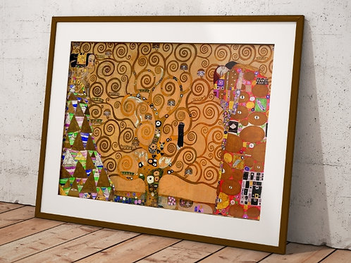Gustav klimt, arvore da vida, tree of life, quadro, poster, gravura, replica, canvas, reprodução, gravura, tela, releitura