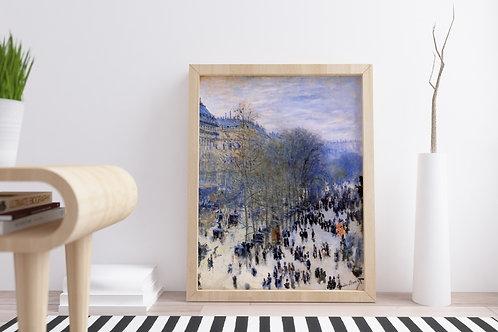 claude monet, Boulevard dos Capucinos, quadro, poster, replica, canvas, reprodução, gravura, tela, , fototela