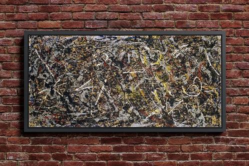 Jackson Pollock, Alquimia, releitura,quadro, poster, replica, canvas, gravura, reprodução, tela,releitura, fototela