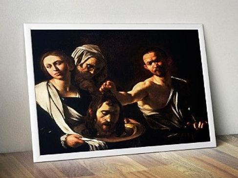 caravaggio, Salomé com a Cabeça de São João Batista, quadro, poster, replica, canvas, gravura, reprodução, tela, releitura