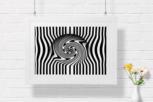 Quadro,Poster,Gravura,Op Art,3d, Arte Ótica, ilusão ótica,Minimalista,Canvas,preto e branco,abstrato,decorativo,fototela