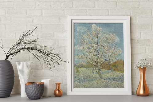 Van Gogh,O Pessegueiro Rosa,poster,gravura,reprodução,canvas,replica,fototela