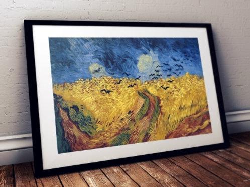 Van Gogh Campo de Trigo com Corvos, Van Gogh, Campo de Trigo com Corvos , Wheatfield with Crows, poster, gravura, reprodução,