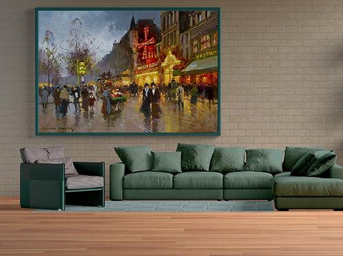 Edouard-Léon Cortès,Moulin Rouge,quadro,poster,replica,gravura,canvas,reprodução,tela,releitura,pintura,parede,decoração