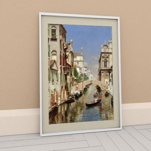 Quadro, Reprodução, Veneza, Rubens Santoro, Poster, gravura, canvas, Réplica, Reprodução, releitura,