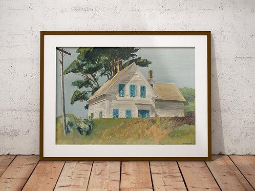 Edward Hopper,Estação da Estrada de Ferro,realismo,poster,gravura,reprodução,réplica,canvas,releitura,tela,pintura