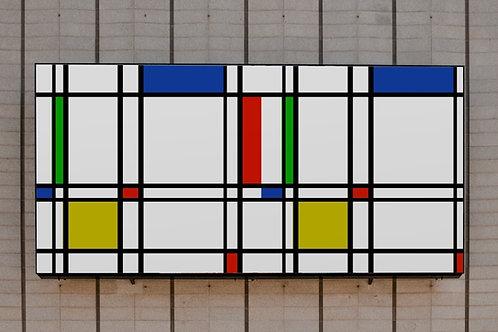 piet Mondrian, Composição, verde, Azul, Vermelho, Amarelo, quadro, poster, gravura, canvas, replica, reprodução, releitura