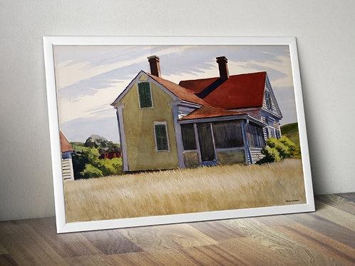 Edward Hopper,Casa de Marshall,Marshall's house,realismo,poster,gravura,reprodução,réplica,canvas,releitura,tela,pintura