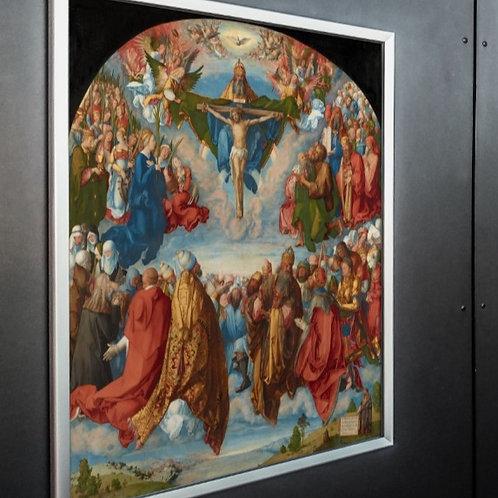 Albrecht Dürer,Adoração da Trindade,quadro,canvas,poster,replica,gravura,reprodução,canvas,fototela,tela,pintura,religioso