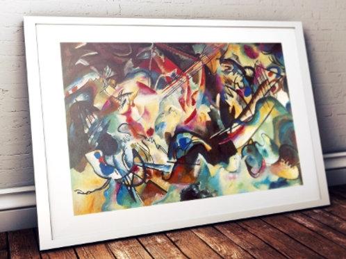 wassily Kandinsky, Composição VI, composition VI, poster, gravura, reprodução, canvas, replica, releitura
