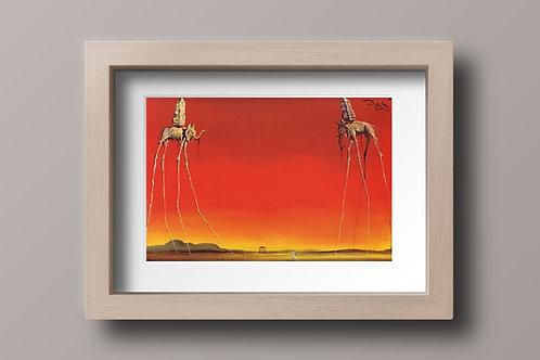 Salvador Dali, Elefantes, quadro, reprodução, poster, canvas, gravura,replica,fototela,tela,pintura,releitura
