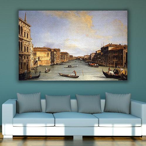Canaletto,Vista do Grande Canal,Veneza,quadro,poster,replica,gravura,canvas,reprodução,tela,pintura,parede,decoração