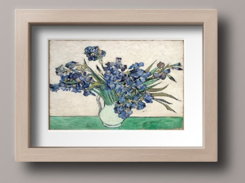 vincent, van gogh, vaso, com, lirios, iris, Vase with Irises, Saint Remy, poster, gravura, reprodução, canvas, replica, relei
