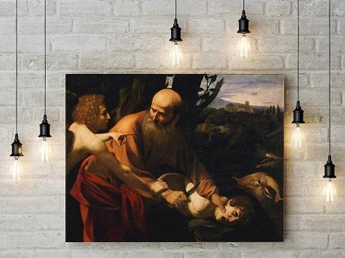 caravaggio, sacrifício de Isaac, quadro, poster, replica, canvas, gravura, reprodução, tela
