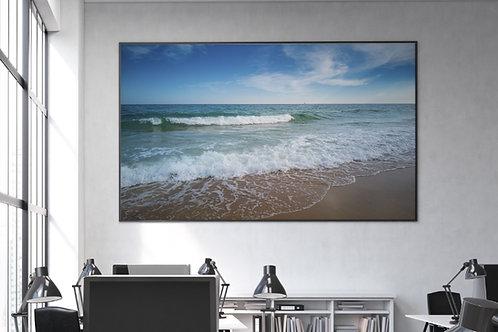 céu azul,praia,Mar,ondas,fotografia,quadro,canvas,poster,replica,gravura,reprodução,fototela,tel