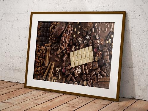 fotografia,cozinha,Alimento,Chocolate,tablete,barra,Colorido,sala,quadro,poster,replica,gravura,canvas,reprodução,foto,tela