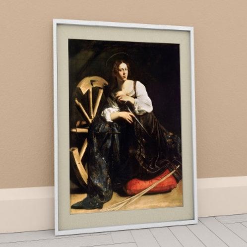 Caravaggio, Santa Catarina de Alexandria, quadro, poster, replica, canvas, gravura, reprodução, tela, releitura