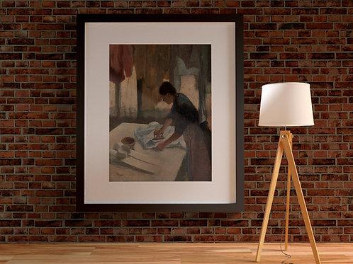 Degas, Mulher Passando,quadro,poster,réplica,canvas,gravura,reprodução,tela,fototela,pintura