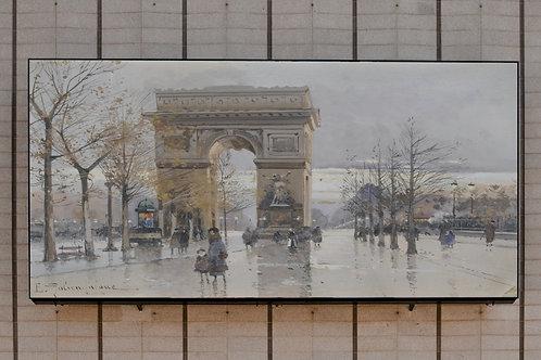 Eugène Galien-Laloue, paris, arco do triunfo, quadro, poster, replica, canvas, gravura, reprodução, tela, fototela