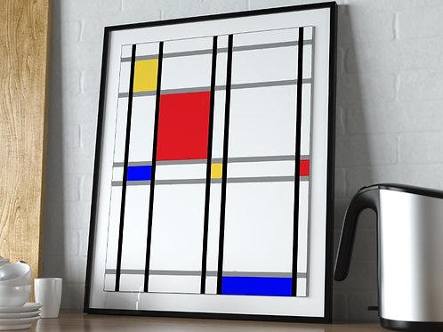 Mondrian, Amarelo Vermelho e Azul, quadro, poster, gravura, canvas, replica,reprodução