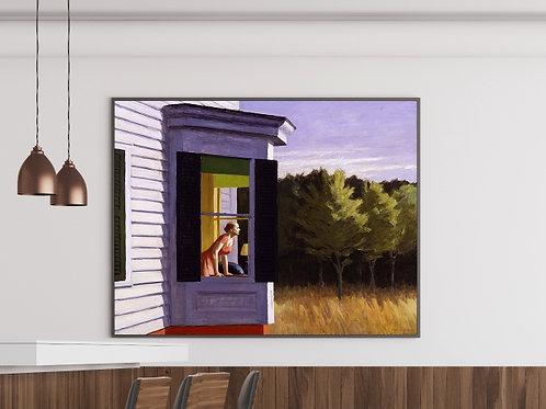 Edward Hopper,Manhã de Sol Cape Cod,Cape Cod Morning,realismo,poster,gravura,reprodução,réplica,canvas,releitura,tela,pintura